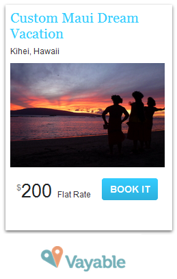 Vayable Maui Ad